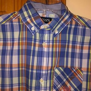 Boys Chaps Plaid Button Down Shirt